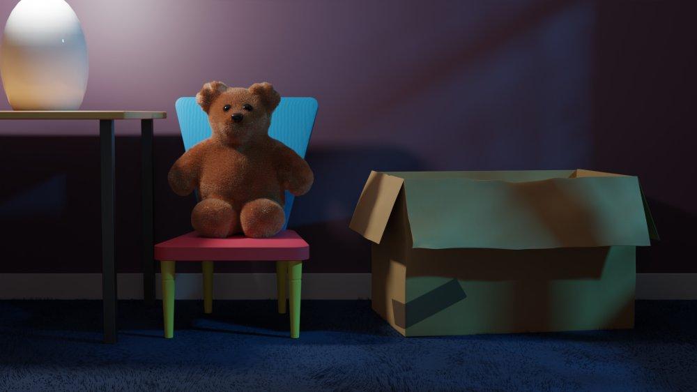 Computer 3D visualisatie - Teddybeer