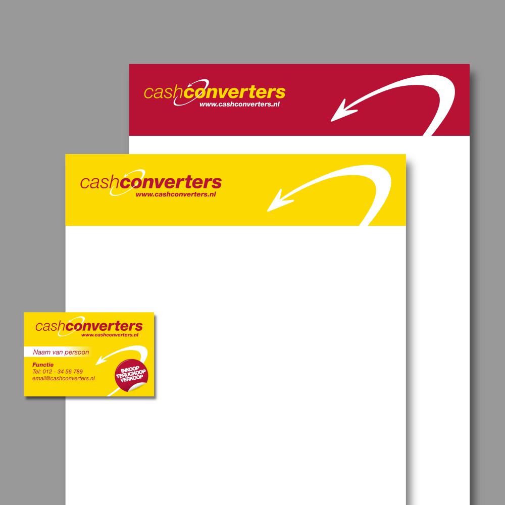 Cash Converters - Briefpapier en visitekaartje