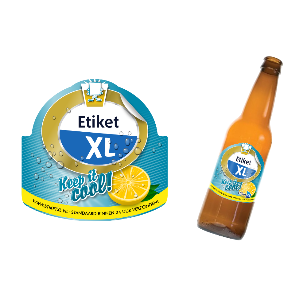 Etiket XL - Bierfles sticker - promo actie