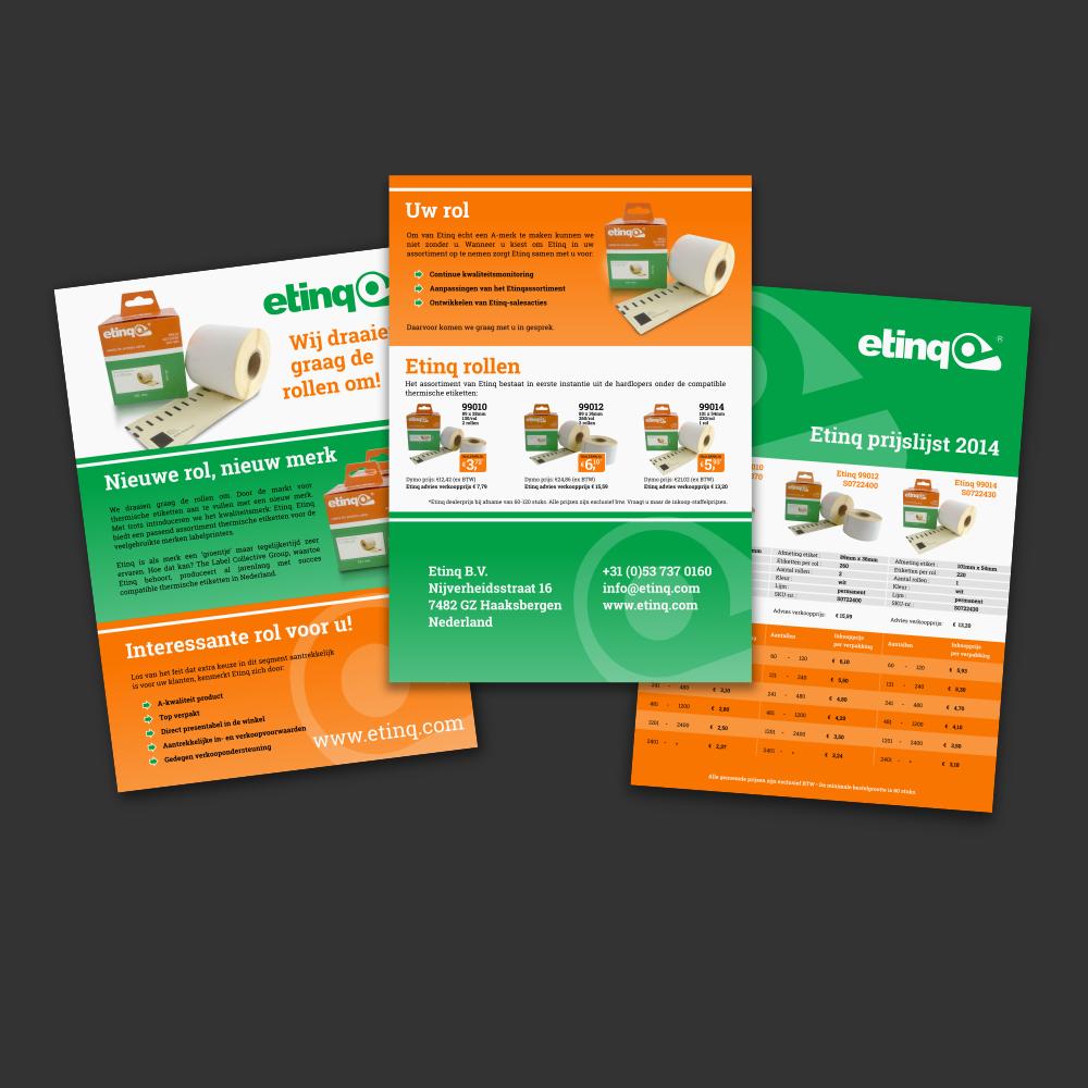 Etinq - Informatie flyer