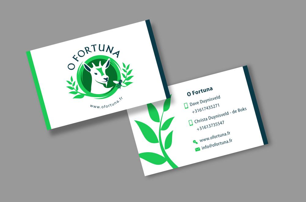 O Fortuna - Logo en visitekaartje