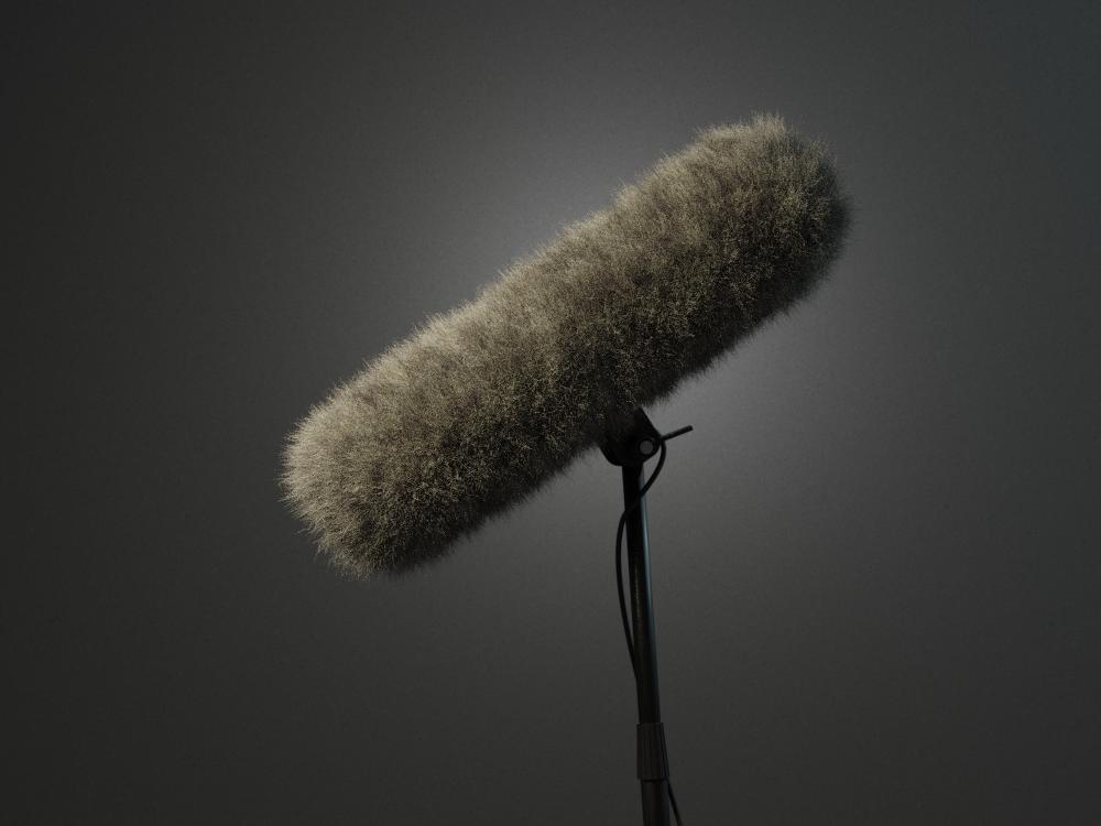 Computer 3D visualisatie - Boom mic